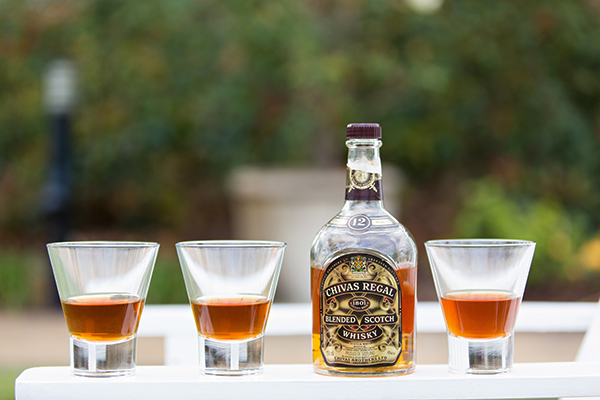 Chivas Regal and glassware stylists' own