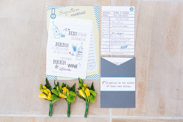 Flowers by Bouquet Boutique; buttonholes by Bouquet Boutique and stationery by Cara Marie Designs