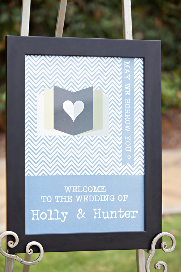Sign and easel from Cara Marie Designs