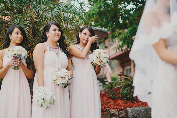 Bridesmaids at the alter