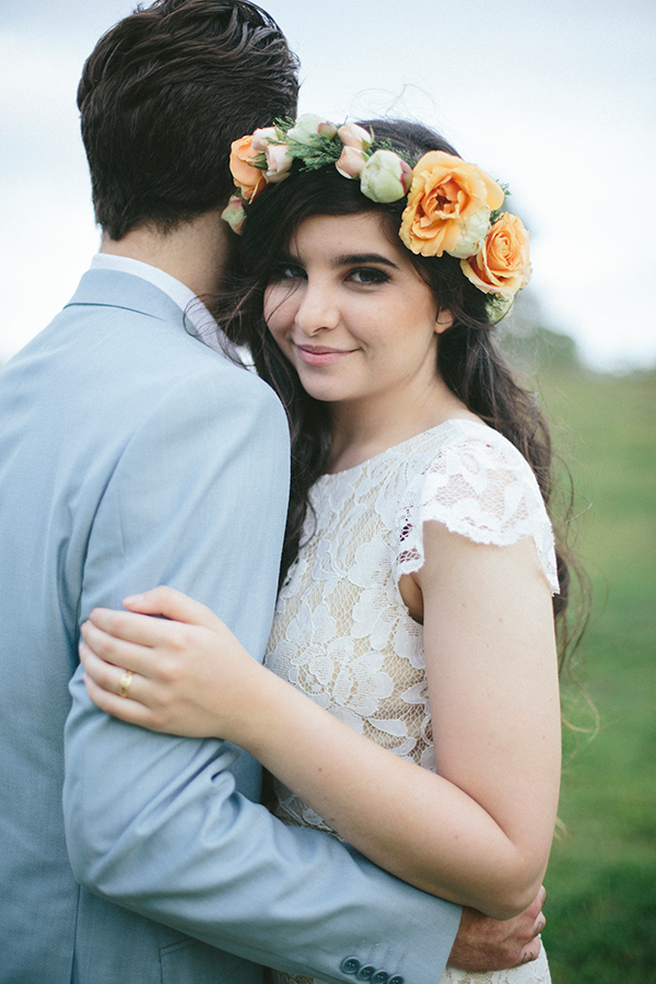 A floral crown is the perfect bridal accessory for a country wedding