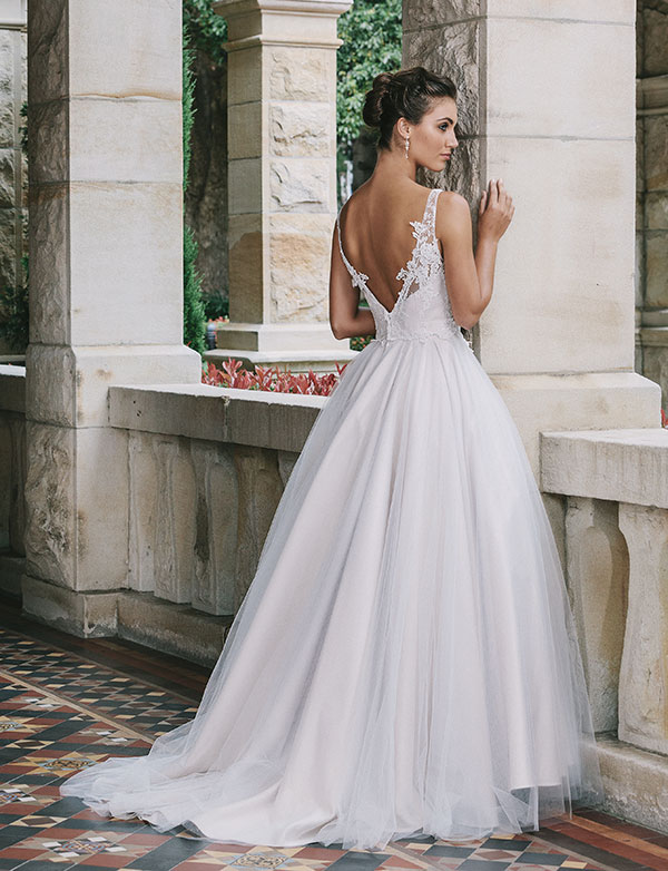 Jack Sullivan wedding gown with back detailing