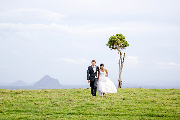 Bride and groom at Maleny