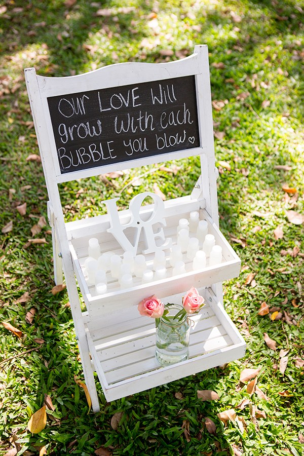 Bubble stand for a gorgeous ceremony exit