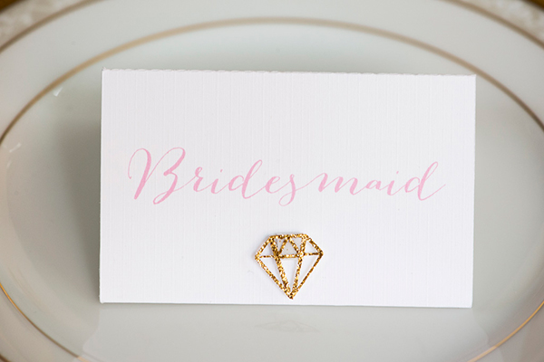 Wedding stationery at the bridal breakfast