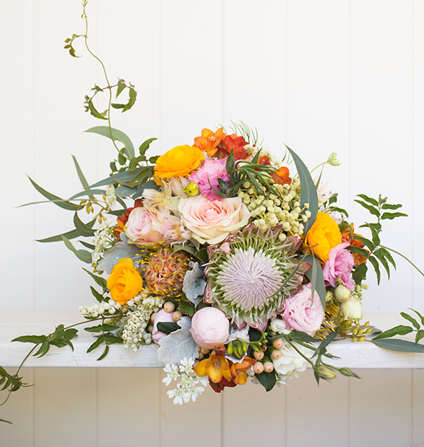 Use a variety of blooms to achieve a beautiful bunch of statement flowers