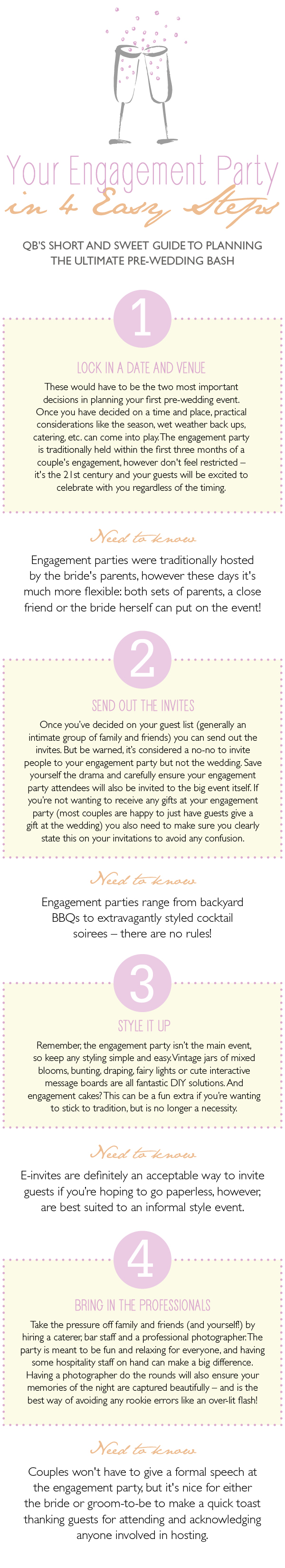 QB Engagement Party infographic