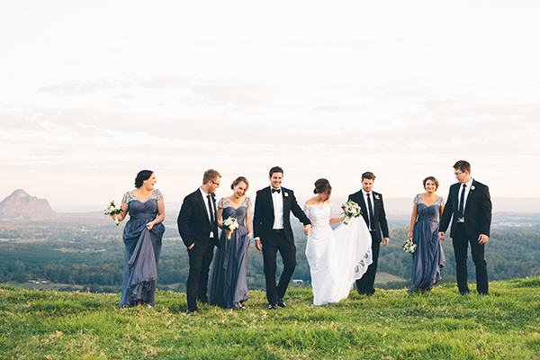 Sarah & Joel married in Maleny. Photos: White Images
