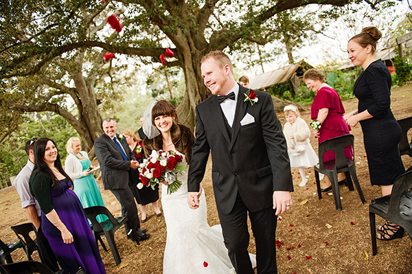 Jennifer & Thomas married at Old Petrie Town. Photo: Christopher Thomas Photography