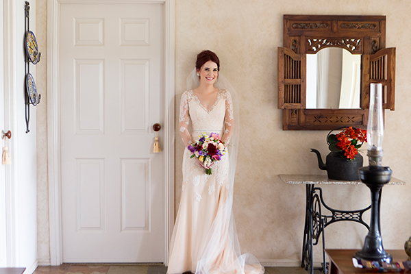 Anna-Lyse and Simon married at the bride's parent's property. Gown: George Wu. Photo: Milque Photography and Films