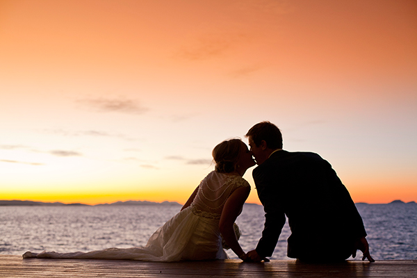 Asha & Ben married at Lover's Cove, Daydream Island. Photo: Robert Kellet from Total Weddings