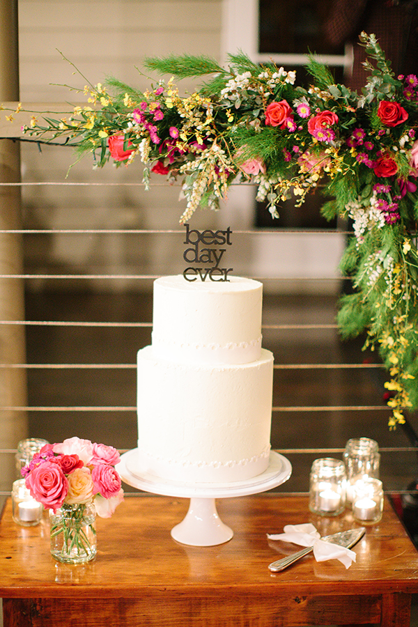 Wedding of Josh and Tyleah. Cake: The Flour Girl. Brooke Adams Photography