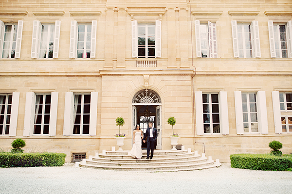 Lisa & Courtney married at a French chateau. Photo: Erika Gerdemark