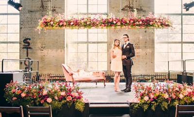 Industrial-style wedding shoot