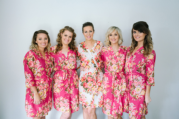 Bride Tyleah and her bridesmaids