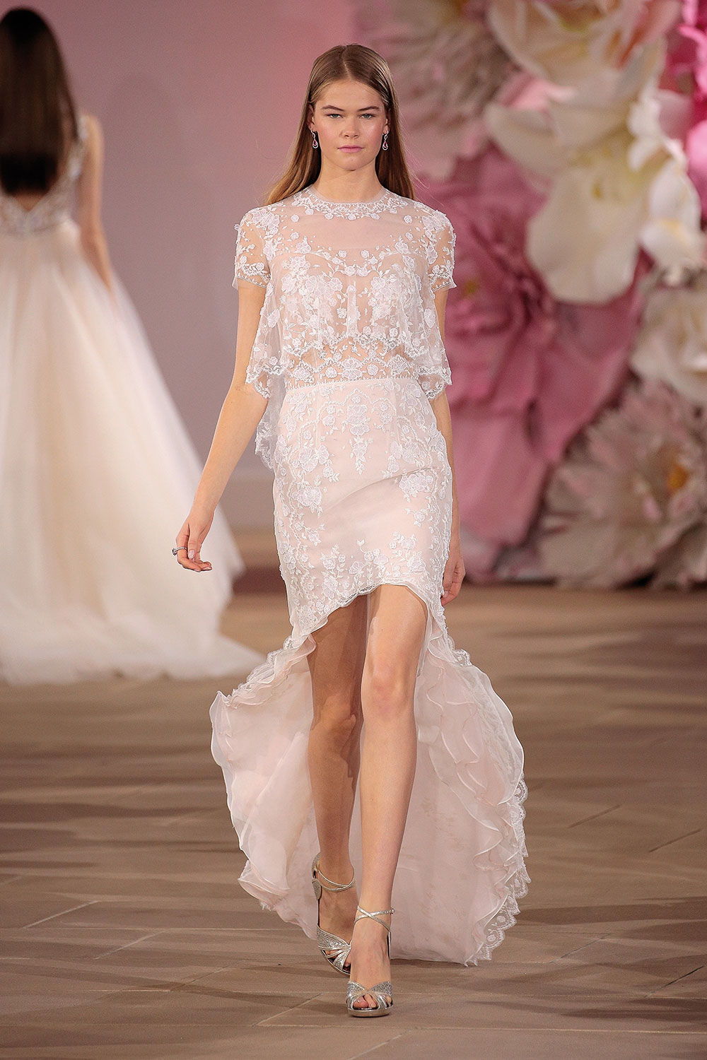 Beautiful pink wedding dress by Ines Di Santo