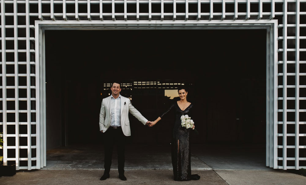 Hannah and Drew's wedding at the Joinery