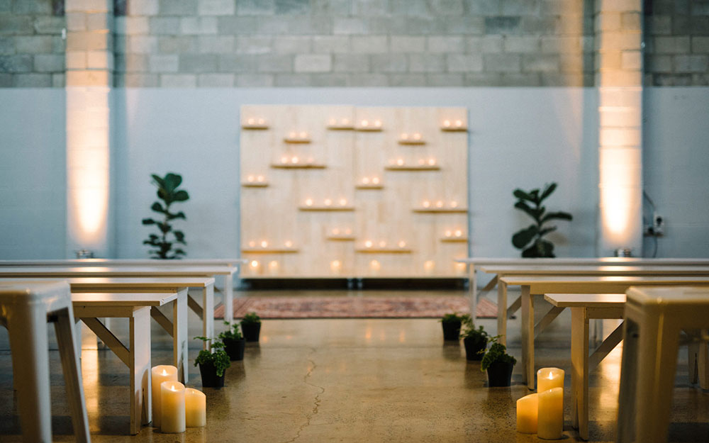 Kathryn and Matt's wedding ceremony at the Joinery