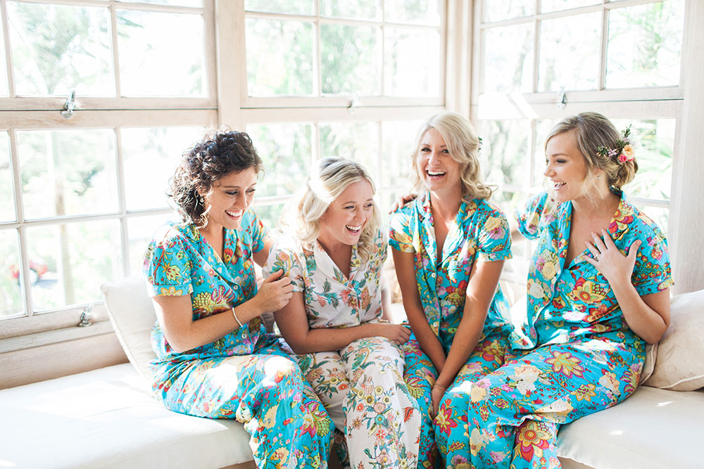 Anna and her bridesmaids