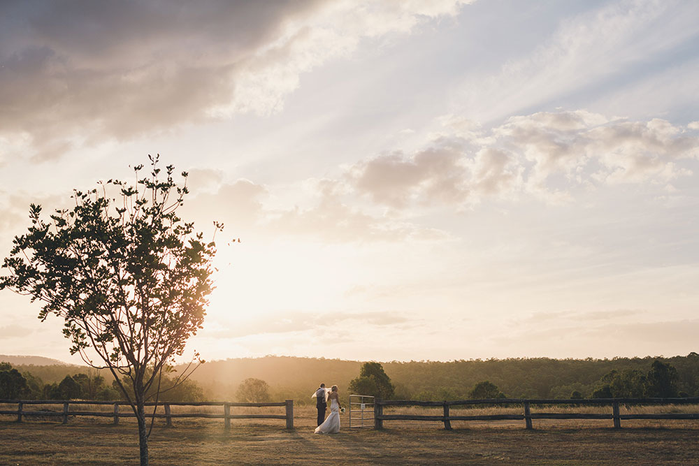 ALex and Josh's country wedding