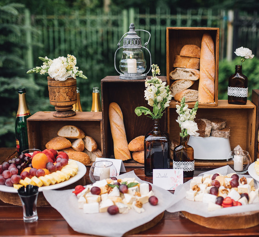 platter stations for weddings