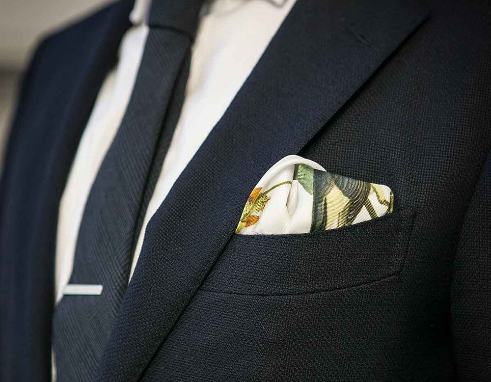 Pocket squares by Rampley & Co