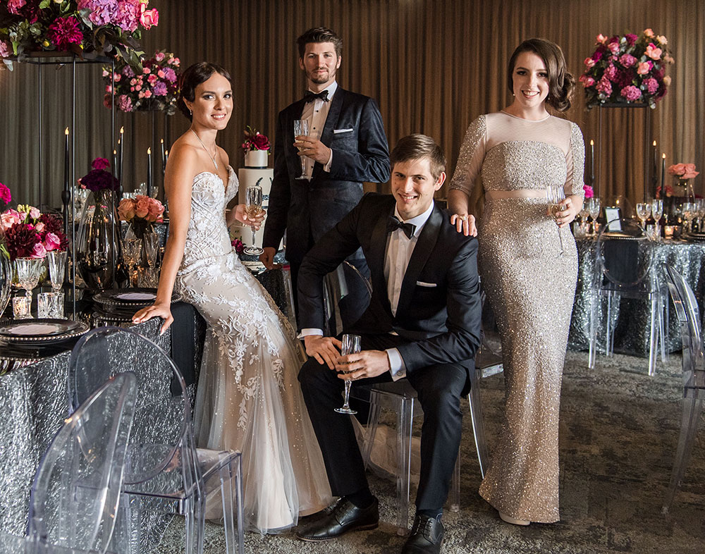 Customs House bridal party