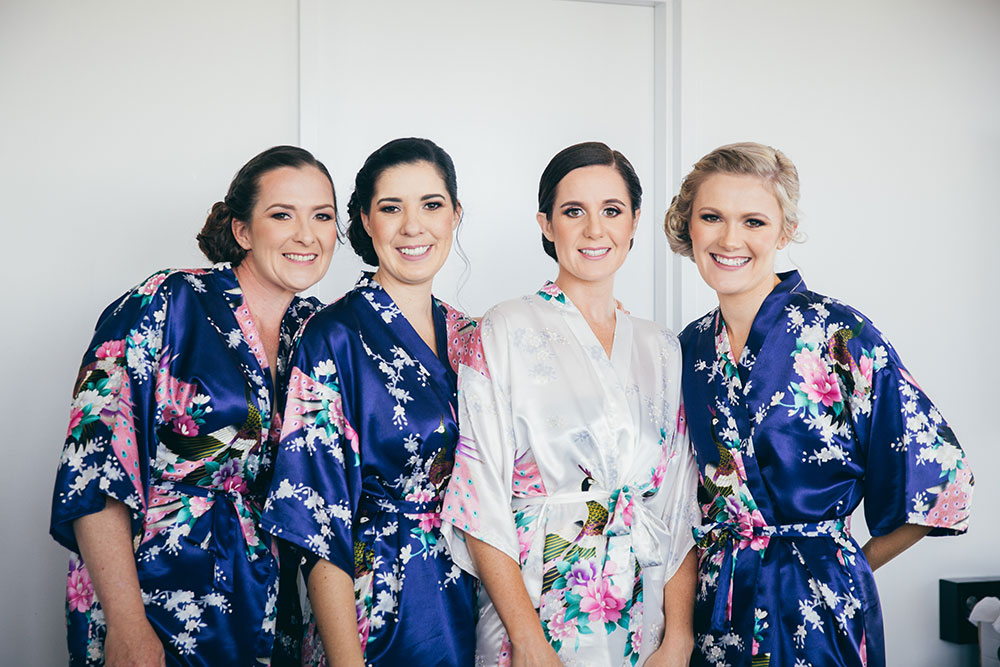 Janelle and her bridesmaids