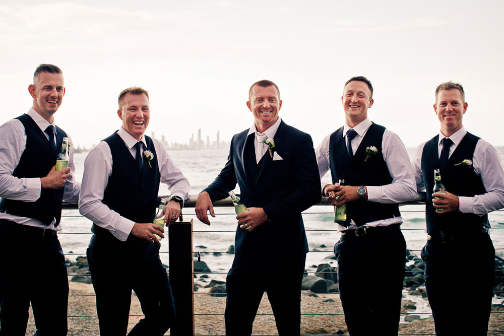 Wayne and his groomsmen