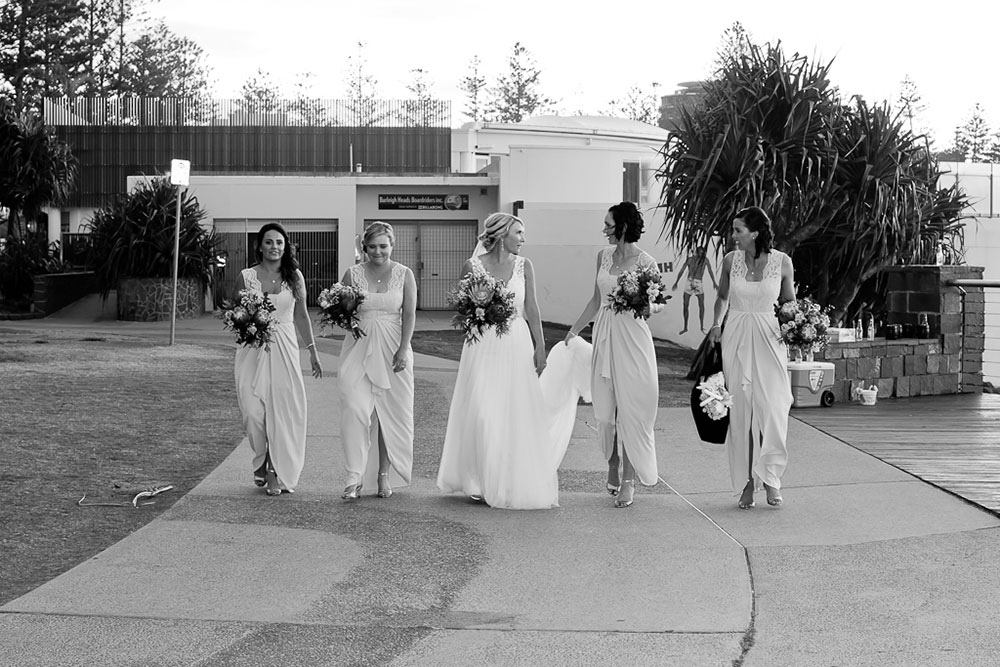 Libby and her bridesmaids