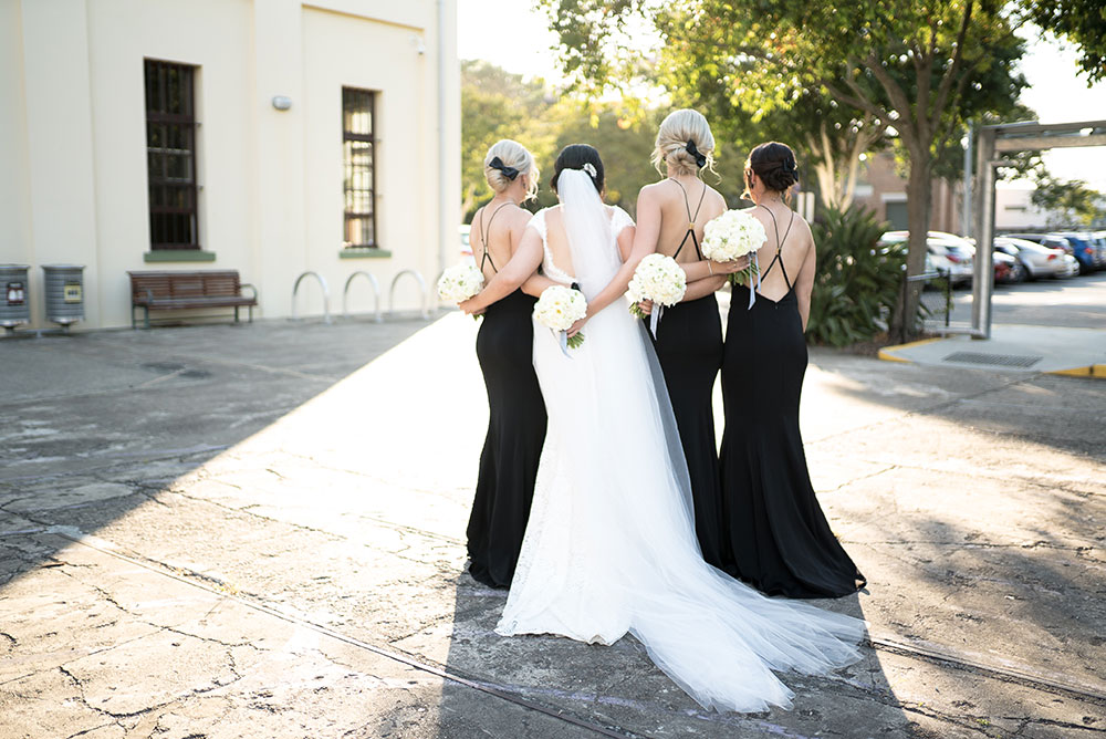 Hannah and her bridesmaids