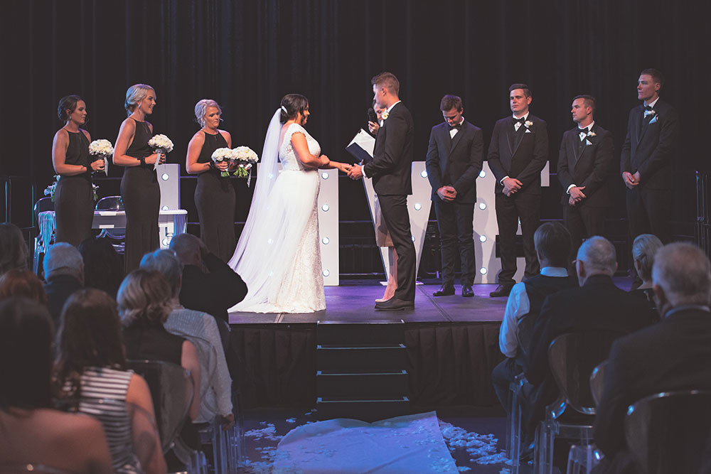 The wedding of Hannah and Hayden
