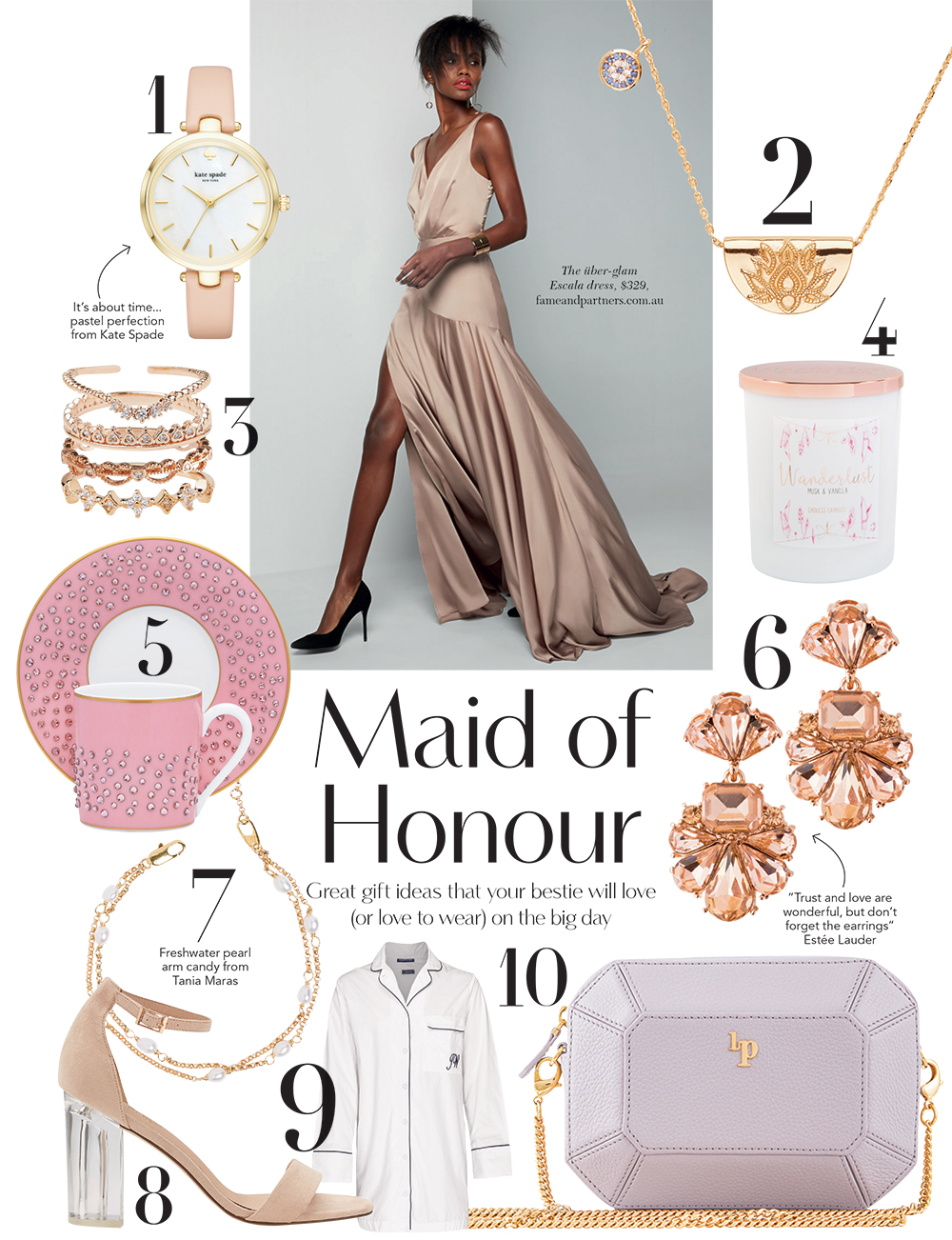 maid of honour gift ideas
