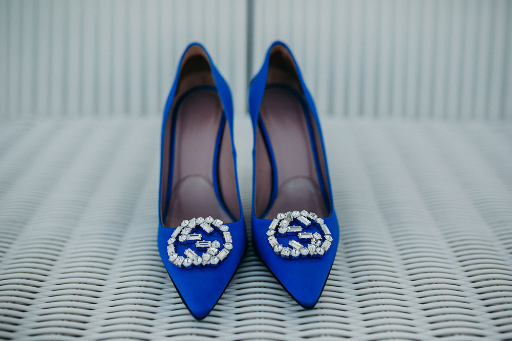 Eireen's Gucci wedding shoes