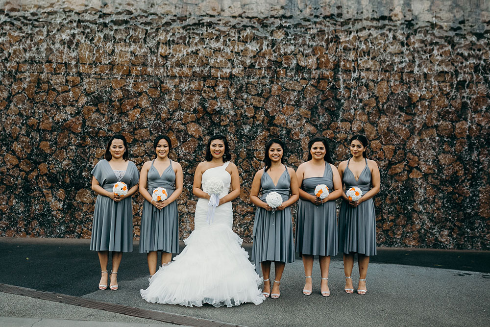 Eireen and her bridesmaids