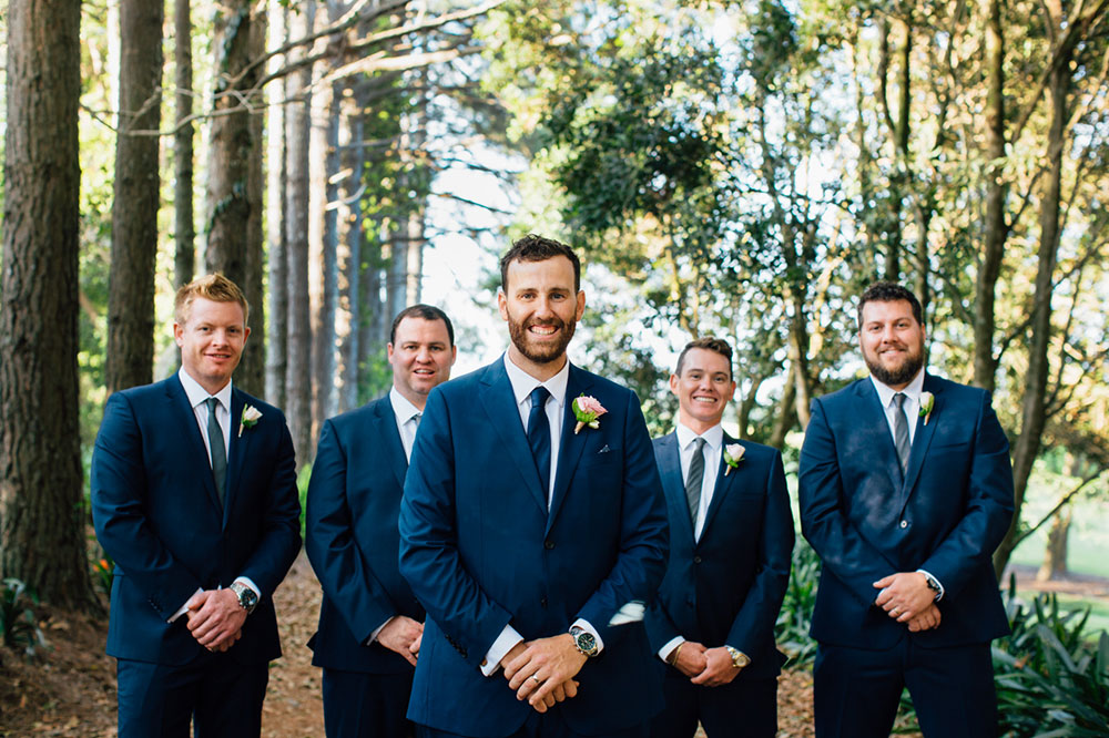 Groom Andrew and his groomsmen