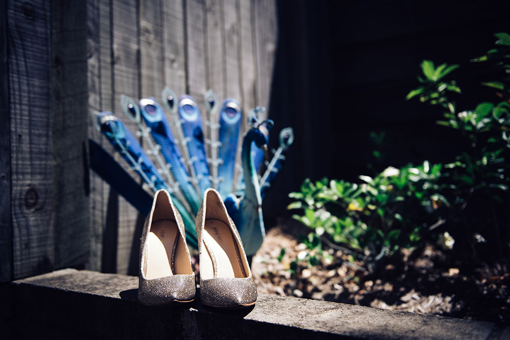 The bridal shoes