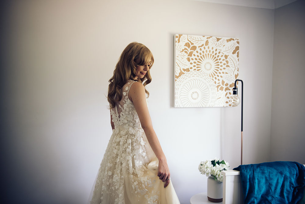 Alyce in her bridal gown