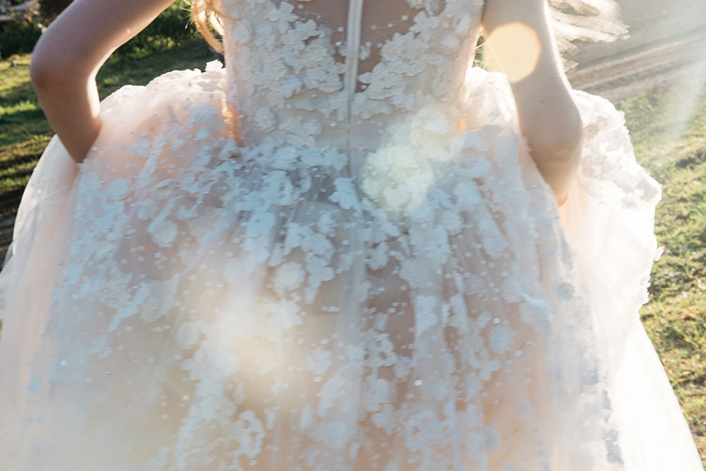 The beautiful bridal gown