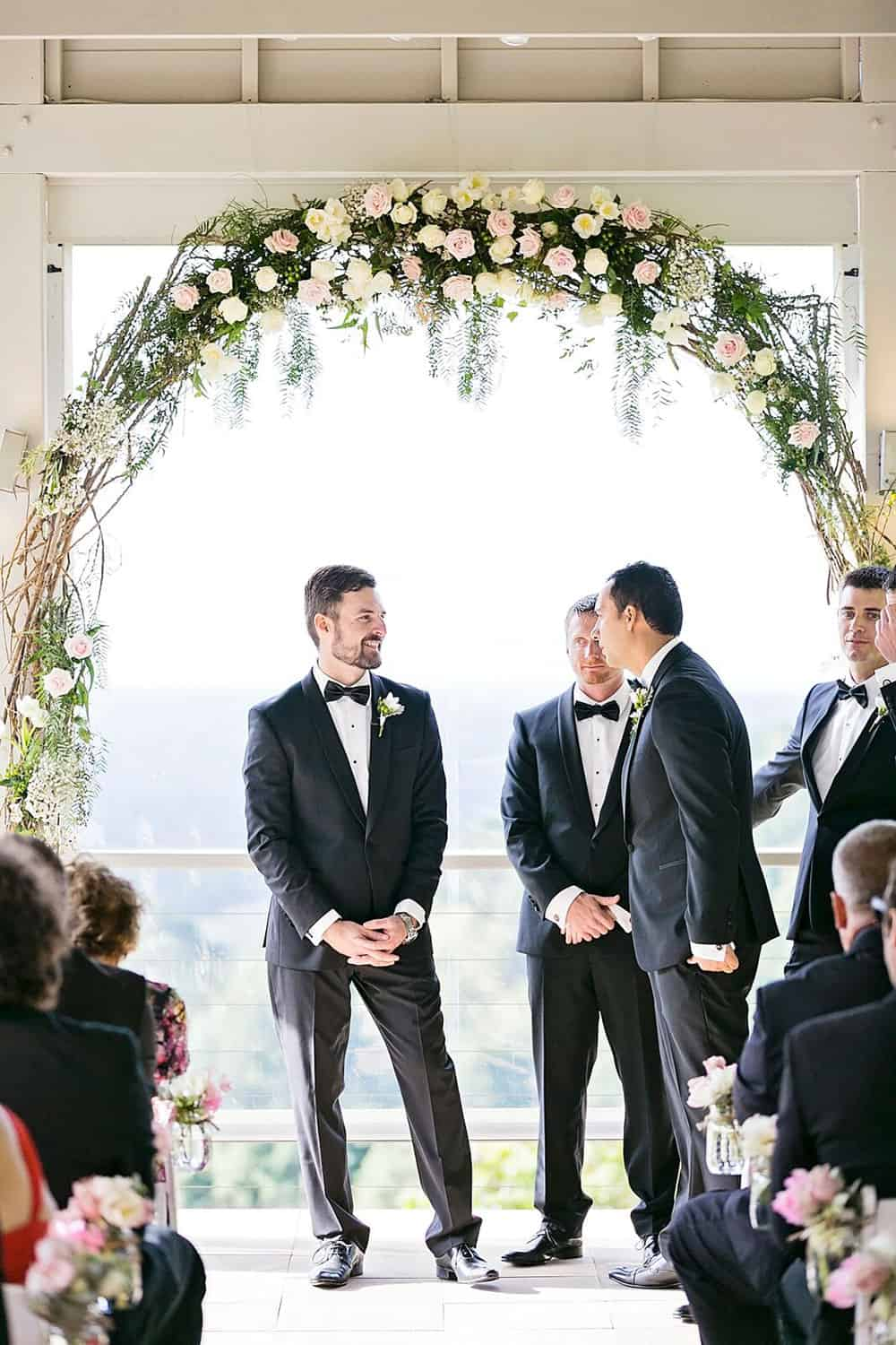 Grant waiting for his bride