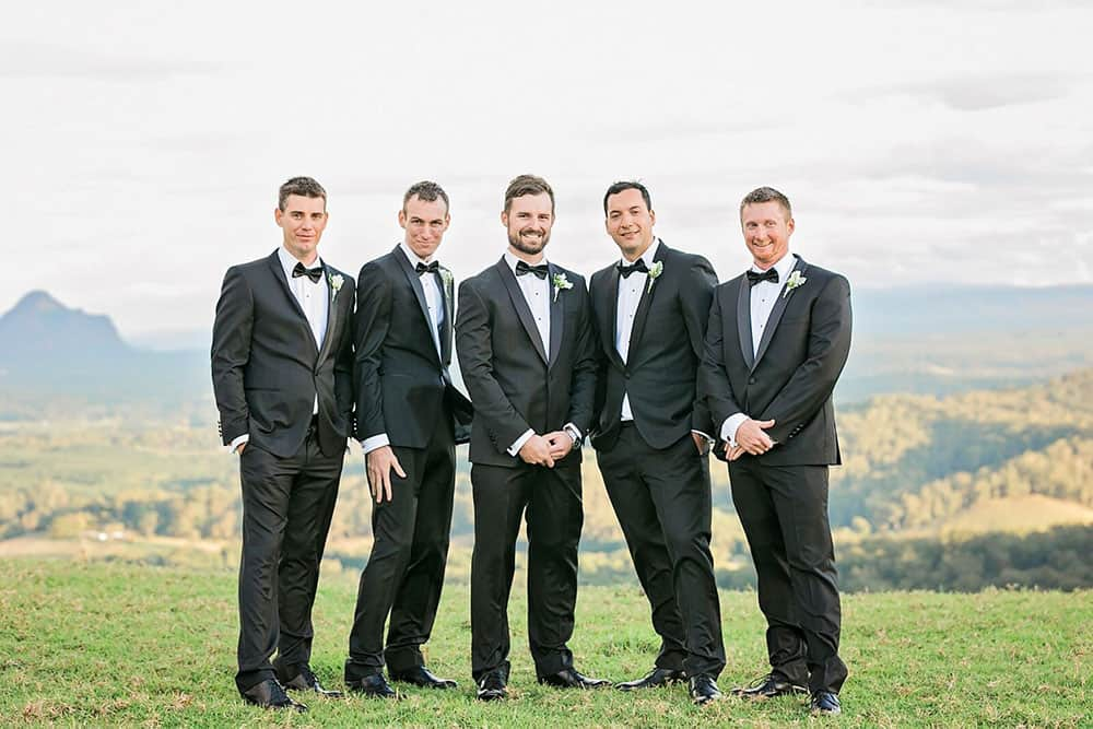 Grant and his groomsmen