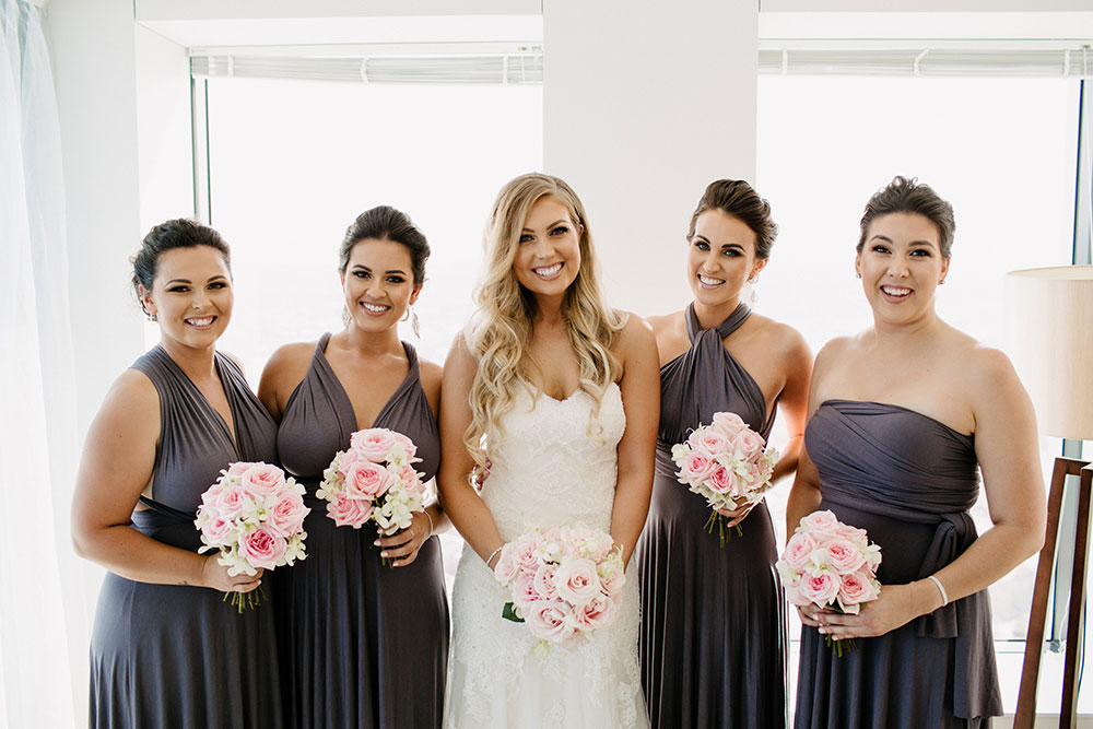 Kirsten and her bridemaids