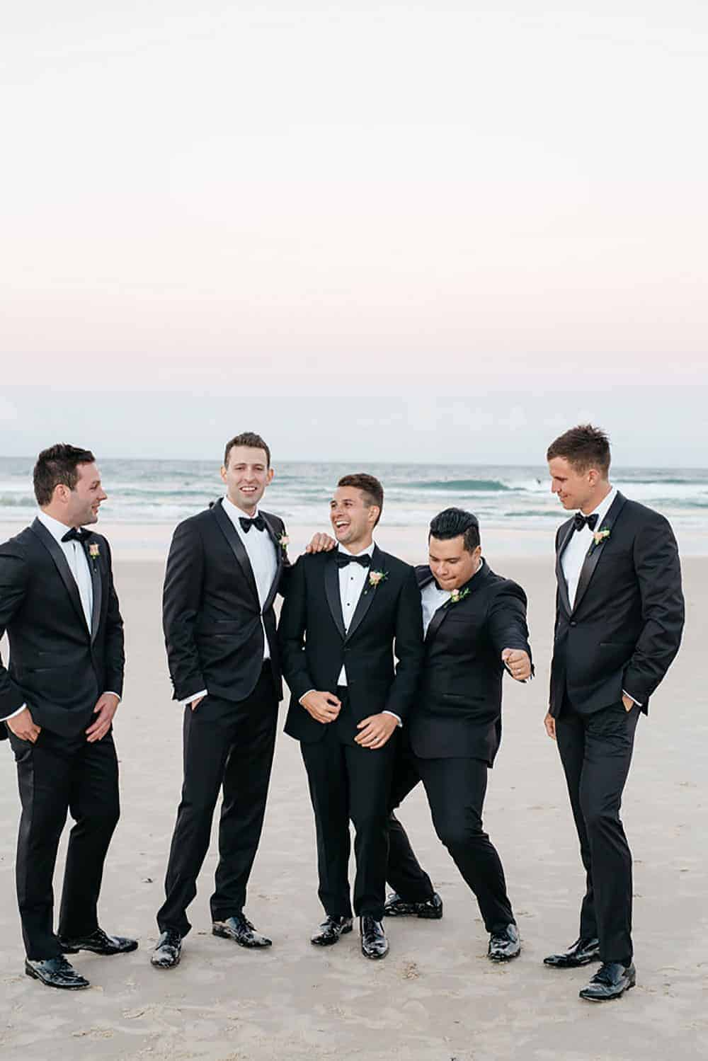 Sarm and his groomsmen
