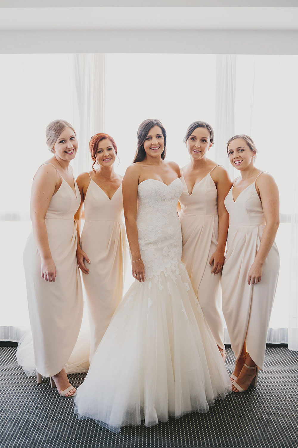 India and her bridesmaids