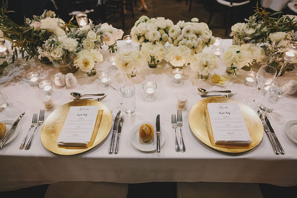 Reception styling and decor