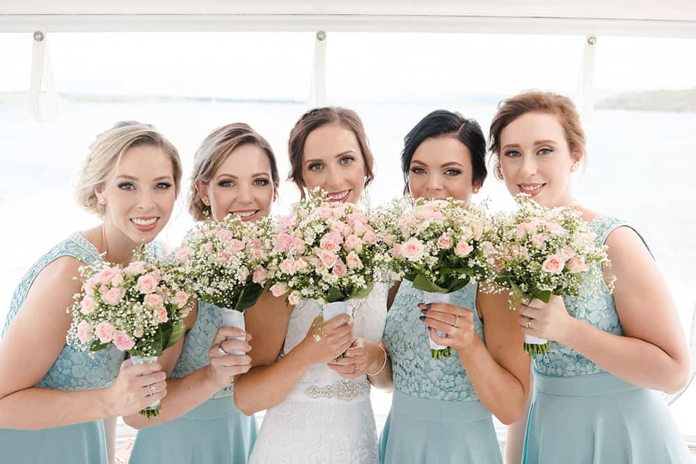 Jay and her bridesmaids