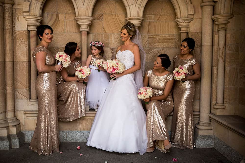 Theresa and her bridesmaids