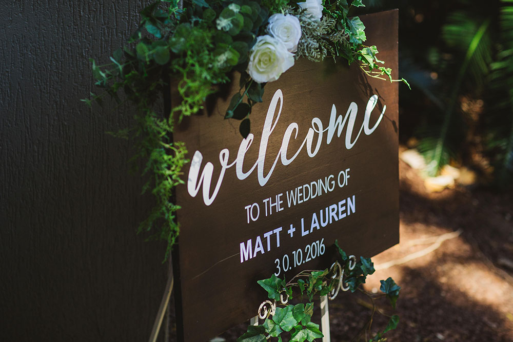 The wedding of Matt + Lauren