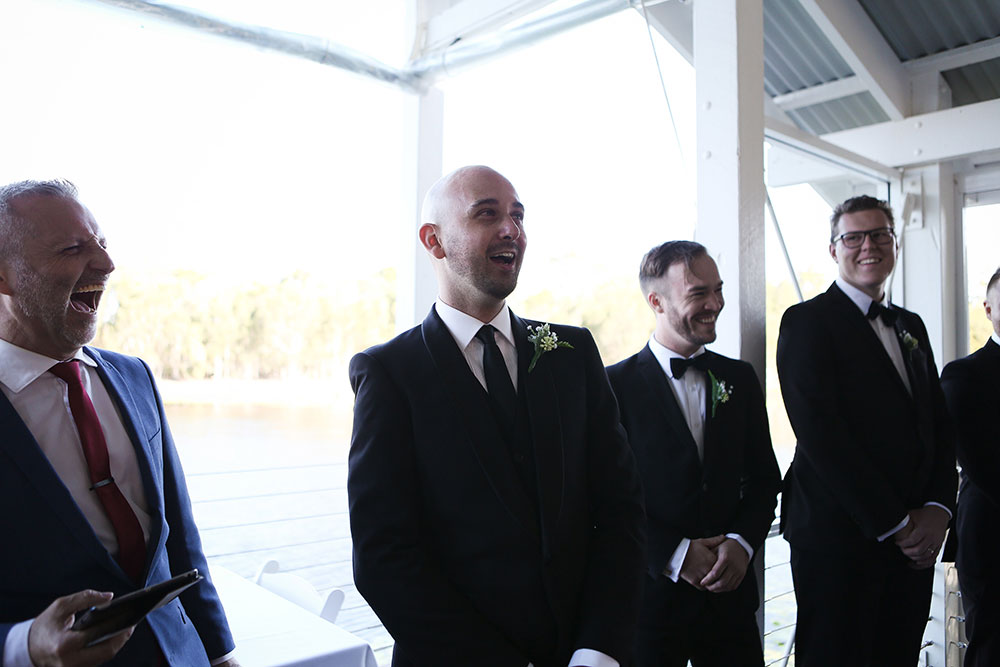 Dale waiting for his bride