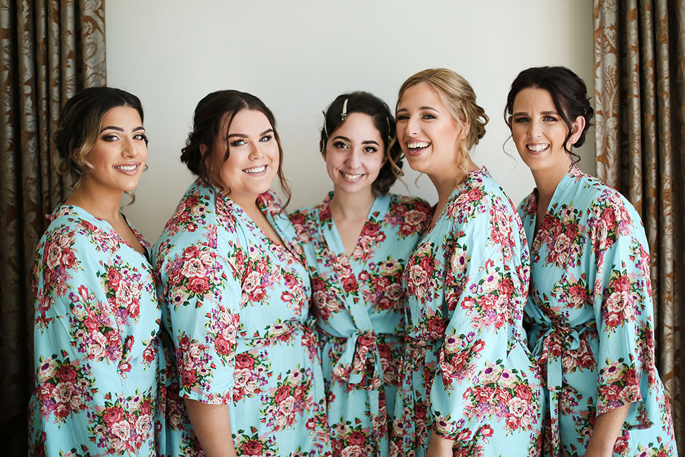 Lisa-Marie and her bridesmaids